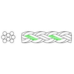 Cordage 8 torons nylon torsadé dessin