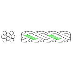 Cordage HSCP 8 torons dessin