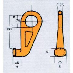 Crochet à conteneur type CH-3