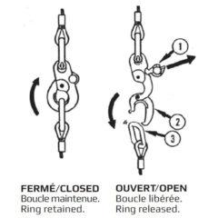 Crochet à larguage peck & hale schéma
