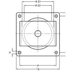 Guide câble horizontal avec roulement à billes ou à rouleaux cylindriques mesure 1