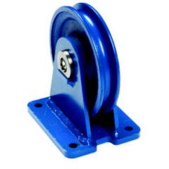 Guide câble vertical avec roulement à billes ou à rouleaux cylindriques